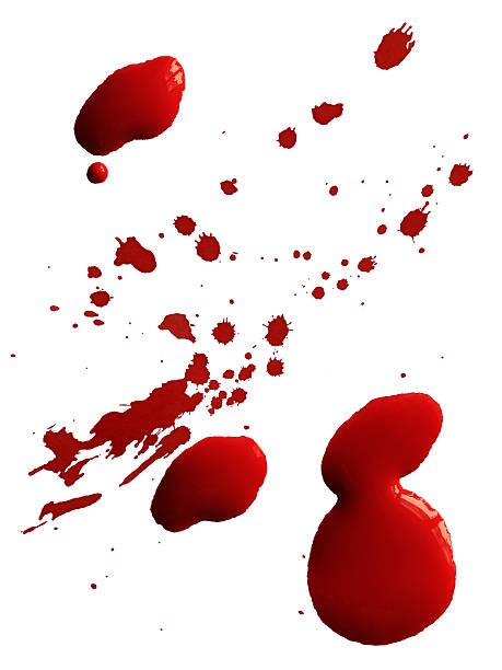 Drop of red blood stock photo
