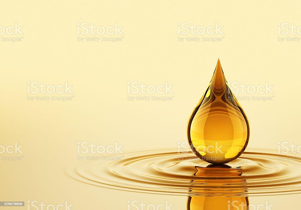 Gota en el aceite - foto de stock