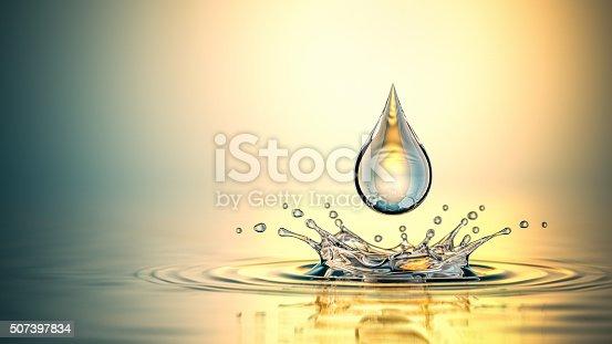 istock Drop On The Oil Splash 507397834
