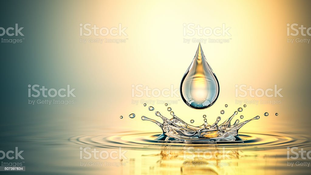 Drop On The Oil Splash stock photo