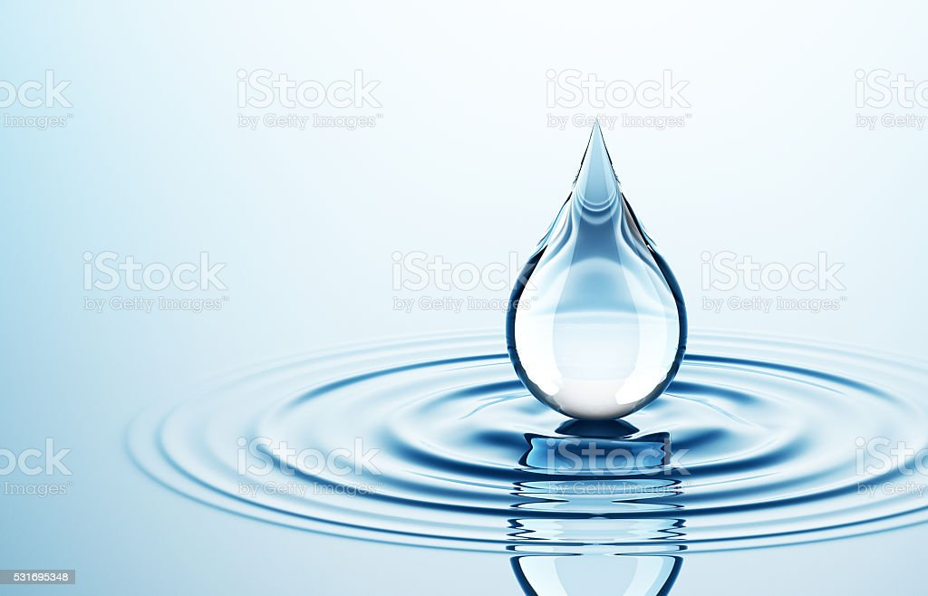 Drop On The Water stock photo