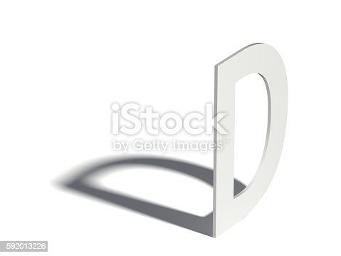 583978154istockphoto Drop shadow font. Letter D. 3D 592013226