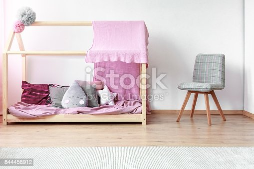 1213866189 istock photo Drop shaped pillow on bed 844458912