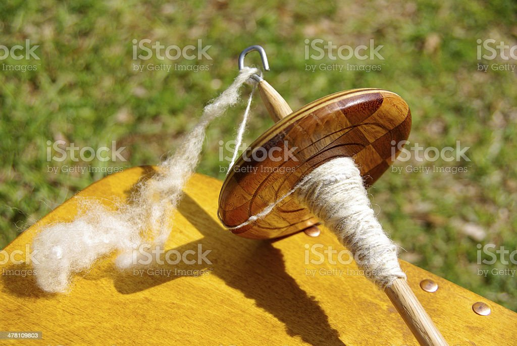 Drop Spindle stock photo