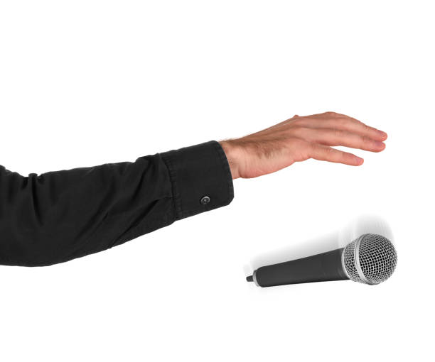 Drop the mic stock photo