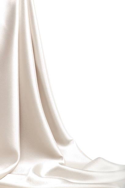 drop-down-satin material - gardinen weiß stock-fotos und bilder