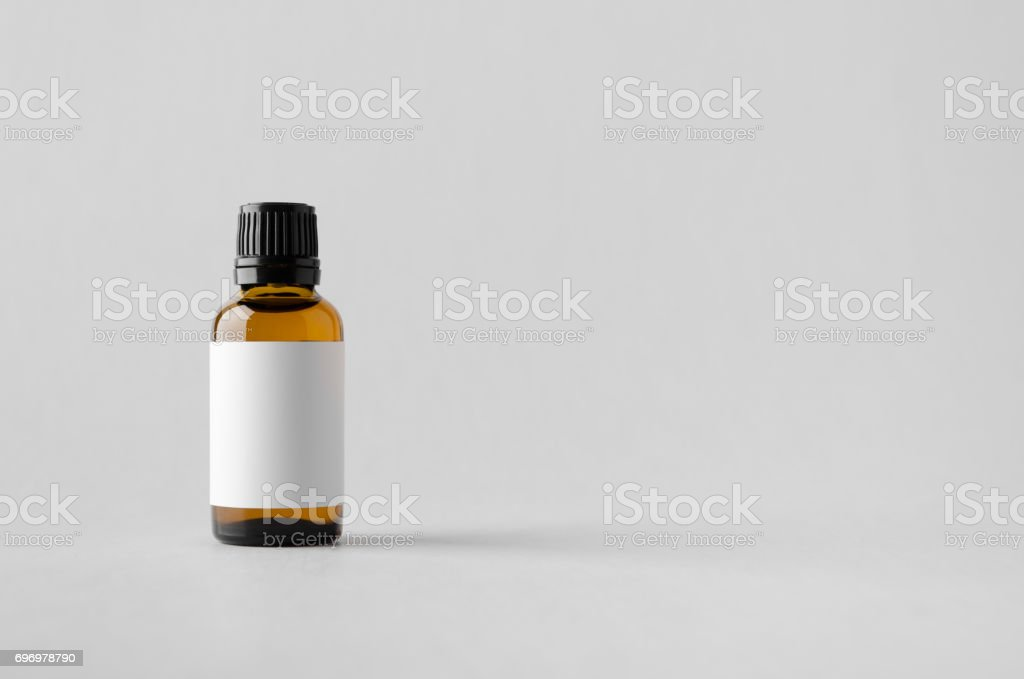 Dropper Bottle Mock-Up - Blank Label stock photo