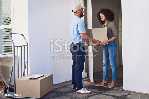 1053001624 istock photo Dropping off another delivery to a valued client 1165697959