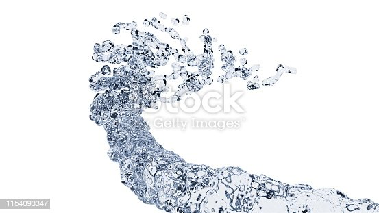 859844580istockphoto Dropping pure and transparent water flow, 3d render computer generated background 1154093347