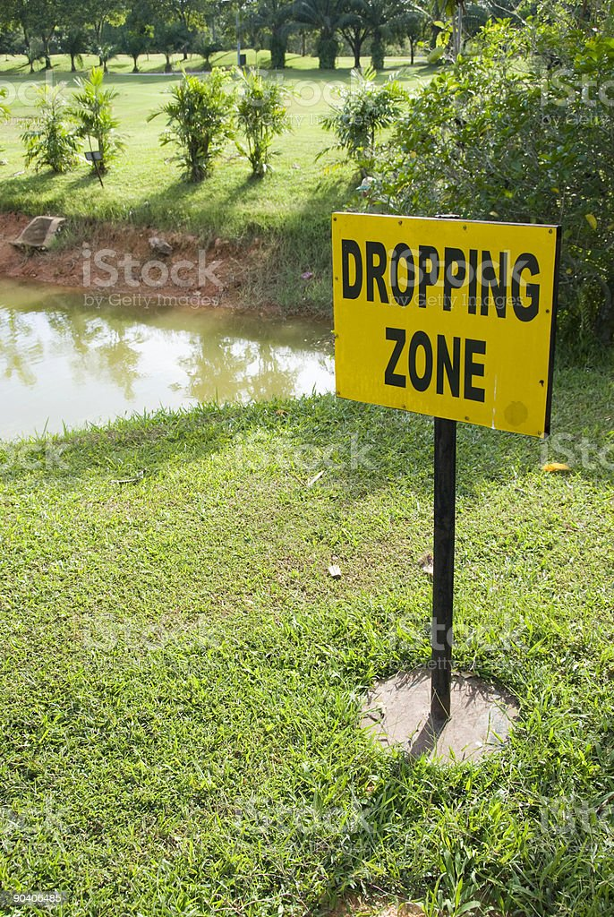 Dropping zone royalty-free stock photo