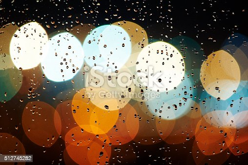 abstract drops and bokeh background