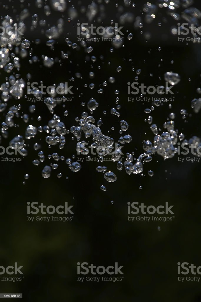 drops in free fall royalty-free stock photo