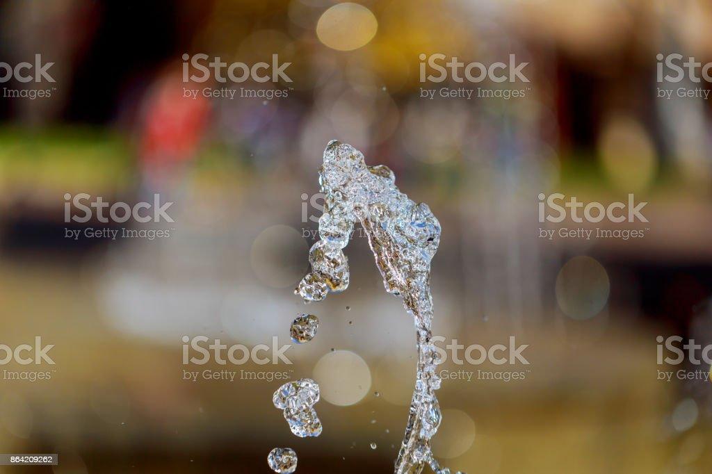 drops of fountain water splash royalty-free stock photo