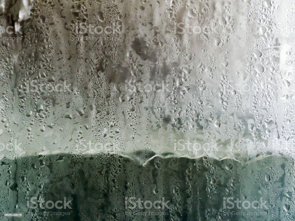 Drops of water from cold storage tanks stock photo