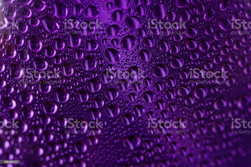 Drops of water on glass royalty-free stock photo