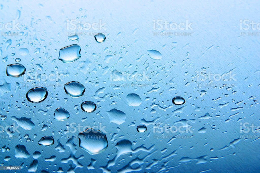 Drops on Blue royalty-free stock photo