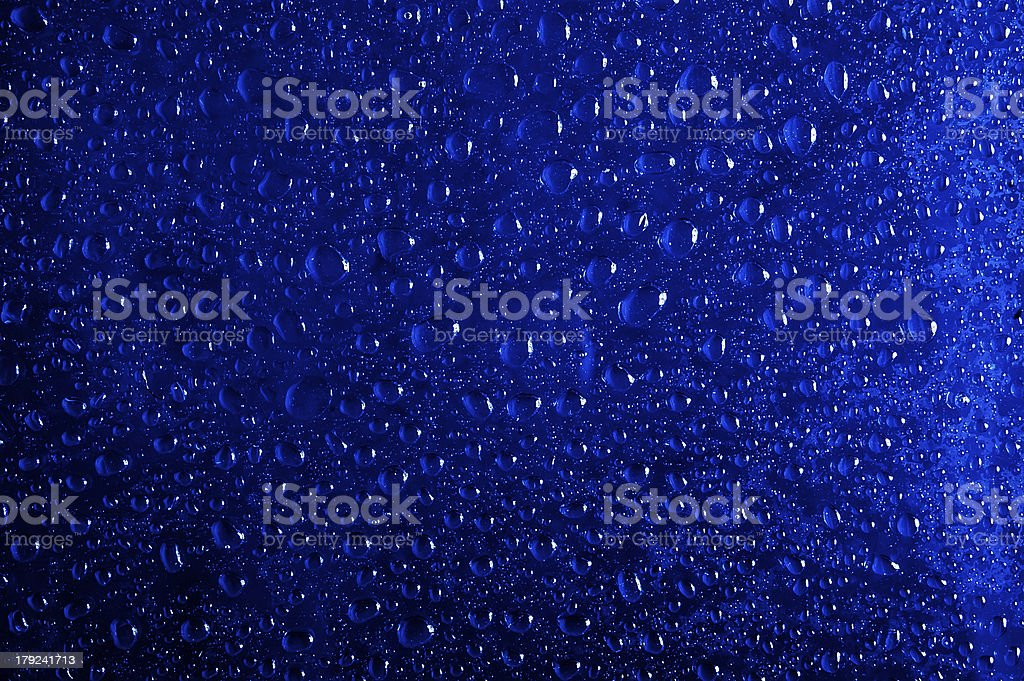 Drops on Blue stock photo
