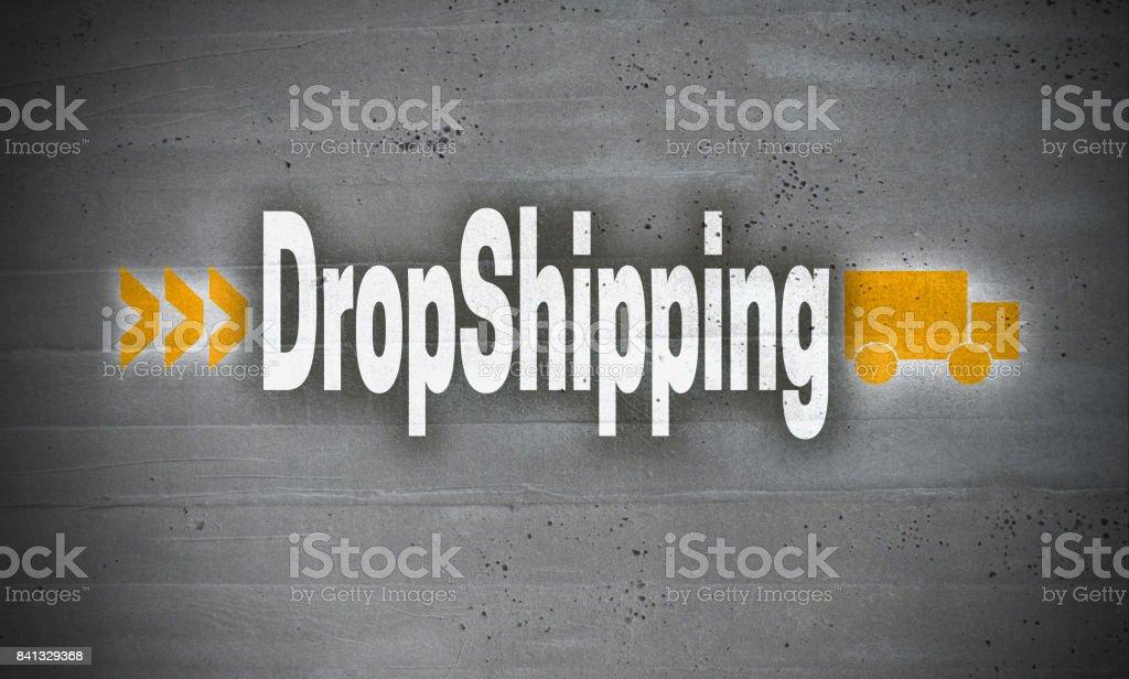 Dropshipping auf Betonwand Hintergrund – Foto