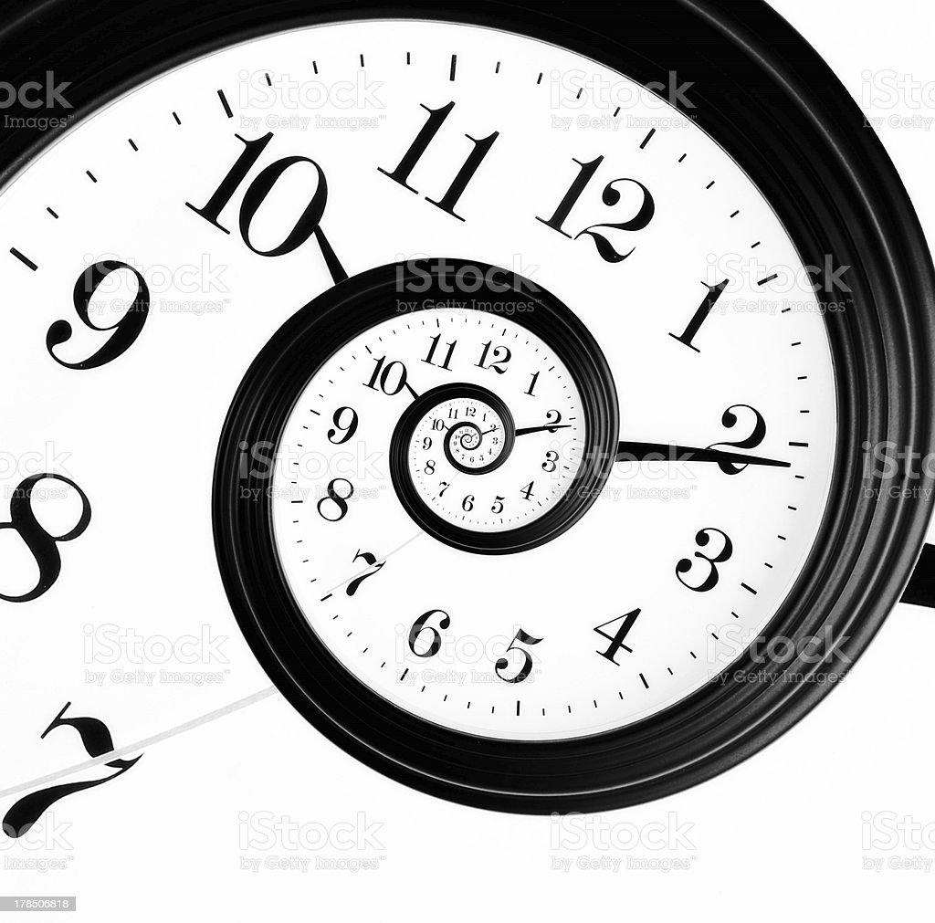 Droste clock stock photo