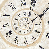 istock Droste effect of clock on the tower 843781854