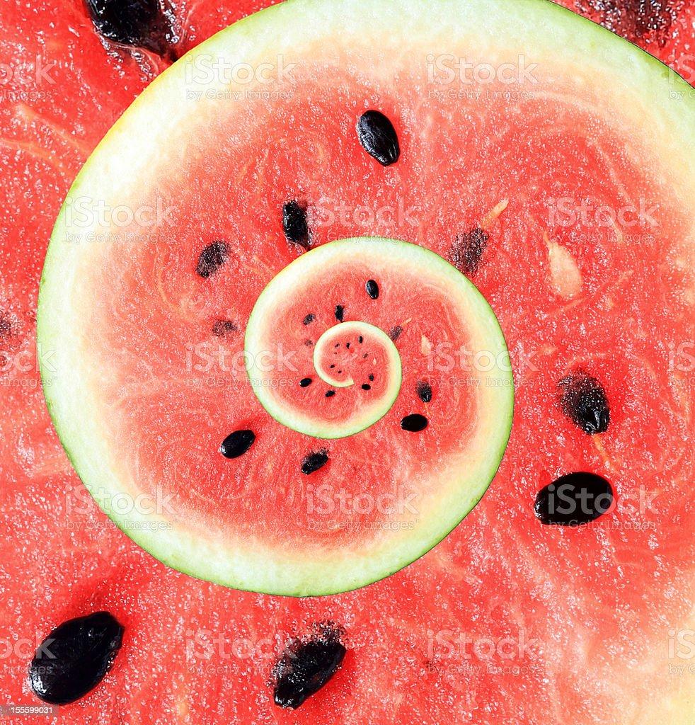 Droste Watermelon royalty-free stock photo
