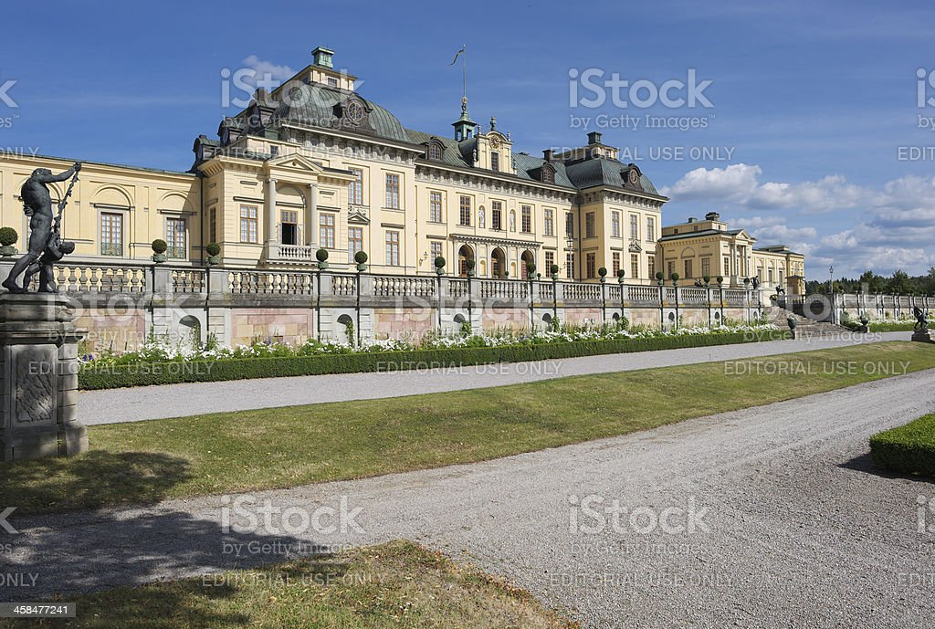 Drottningholm Royal Castle, Stockholm, Sweden royalty-free stock photo
