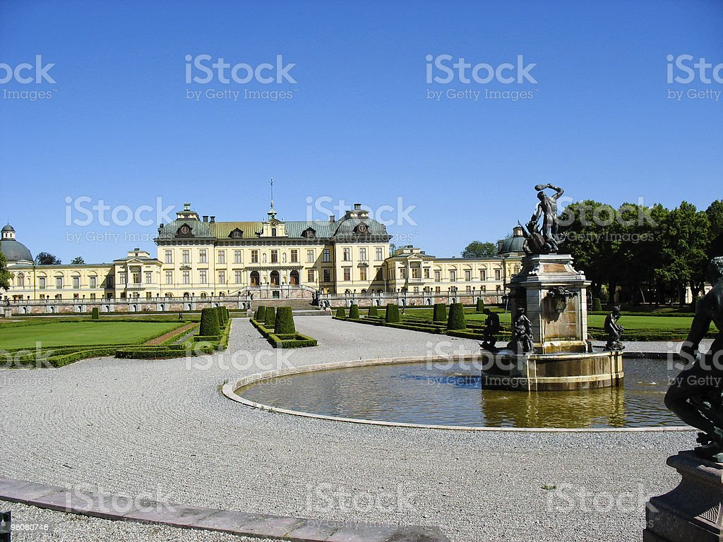 Drottningholm's castle (Sweden, Stockholm) royalty-free stock photo
