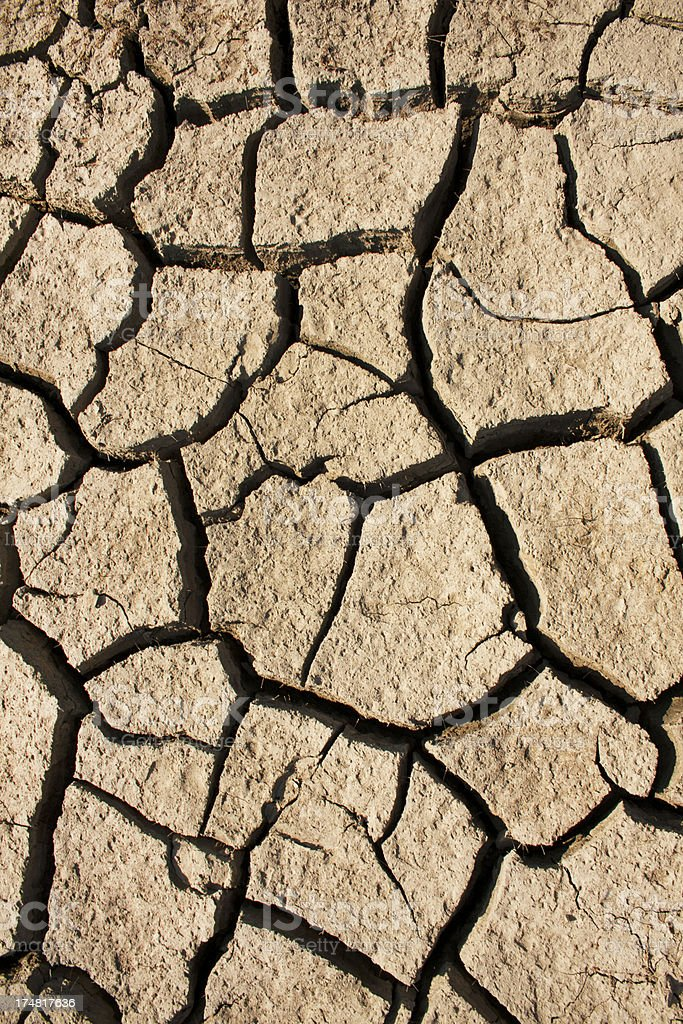 drought. Cracked earth royalty-free stock photo