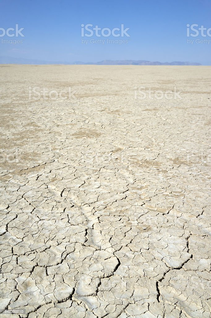 Drought Cracks in the Playa stock photo