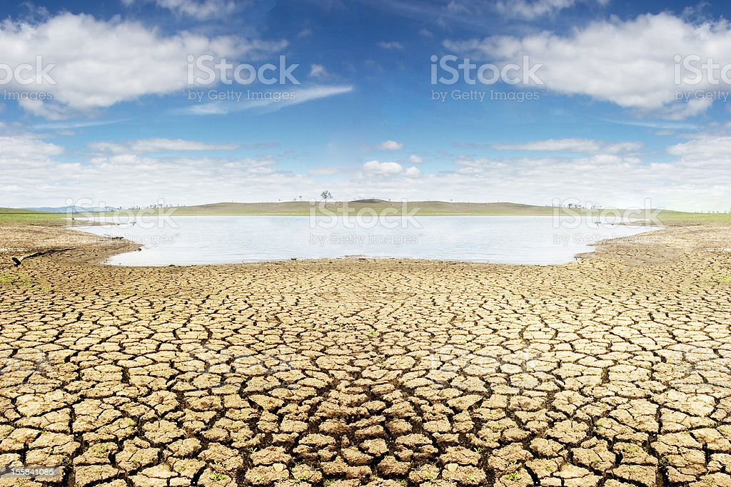 Dürre in Australien - Lizenzfrei Abgeschiedenheit Stock-Foto