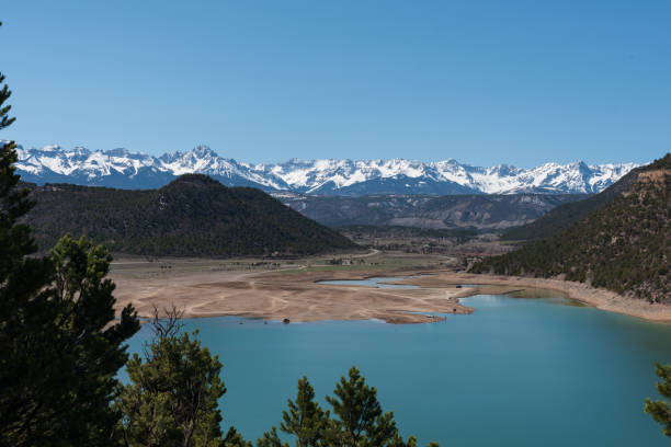 Drought in the Ridgway Valley stock photo