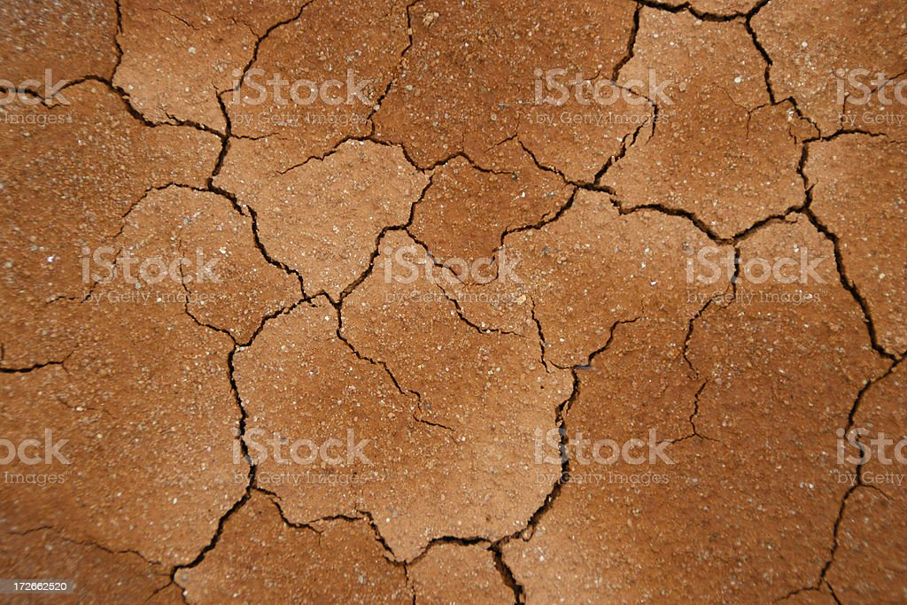 Dry cracked soil after a drought