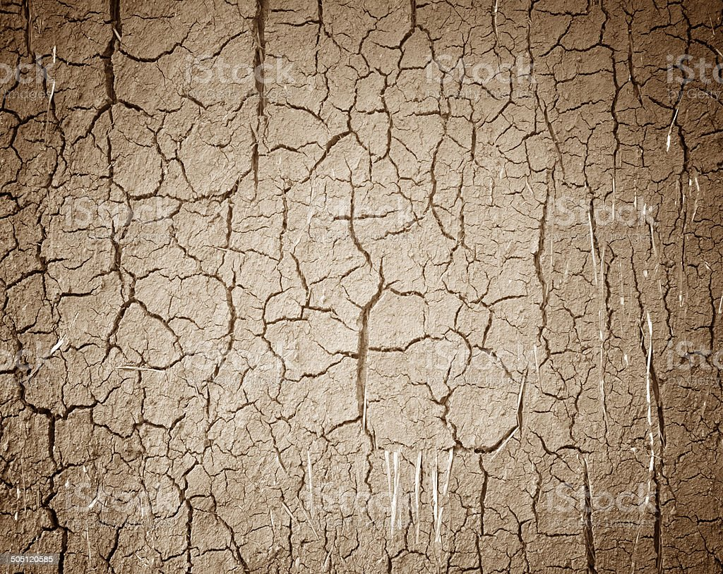 Drought the ground cracks. stock photo