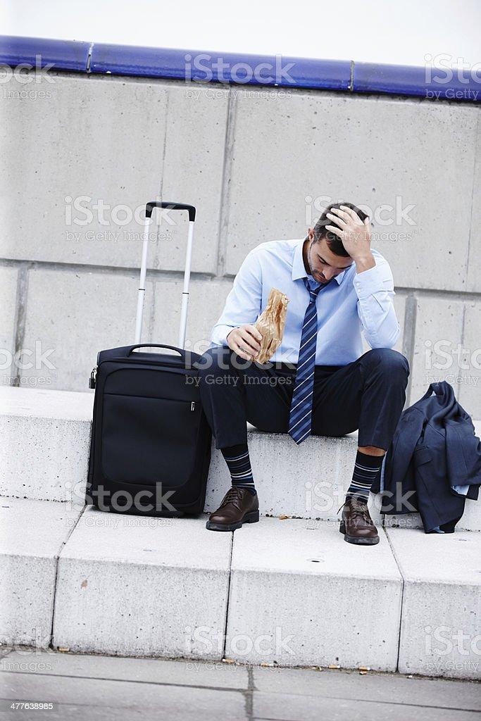 Drowing his sorrows stok fotoğrafı