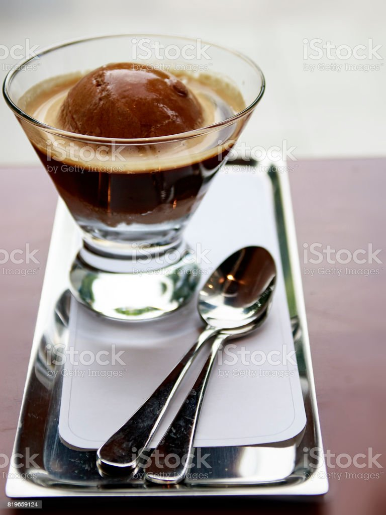 Affogato Coffee stock photo