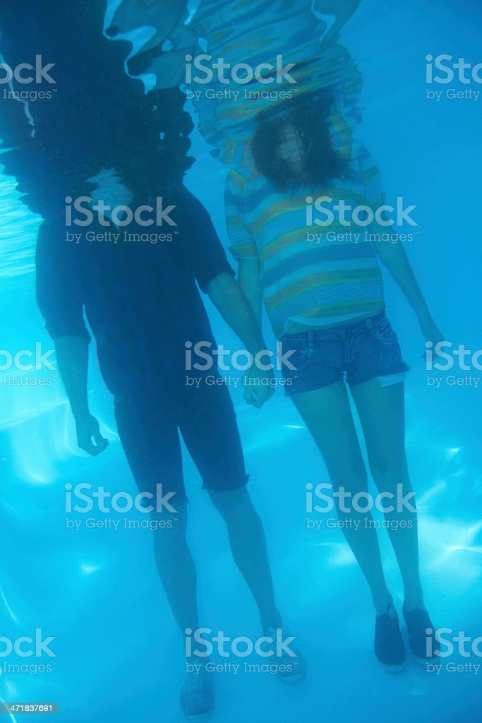 Drowned in love royalty-free stock photo