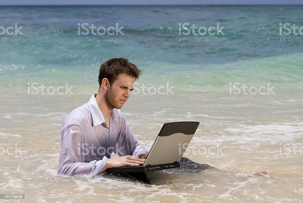 Drowned in work royalty-free stock photo