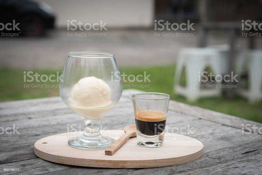 Affogato stock photo