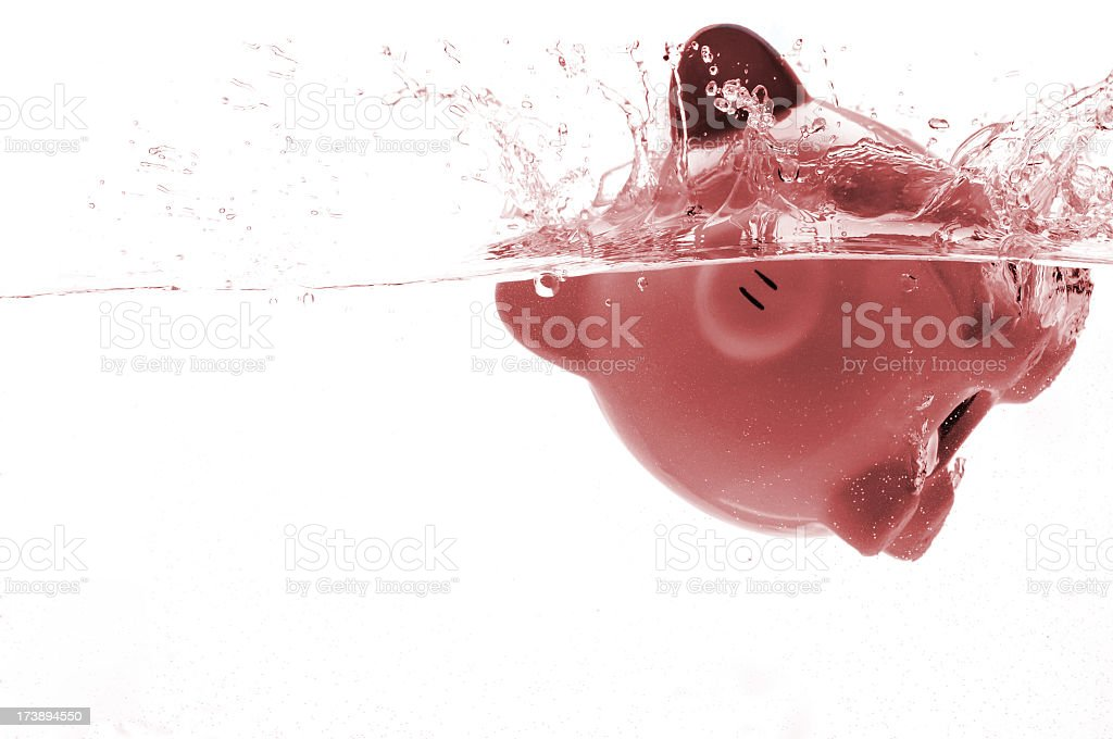 Drowning bank royalty-free stock photo