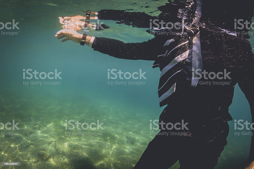 Drowning Business royalty-free stock photo
