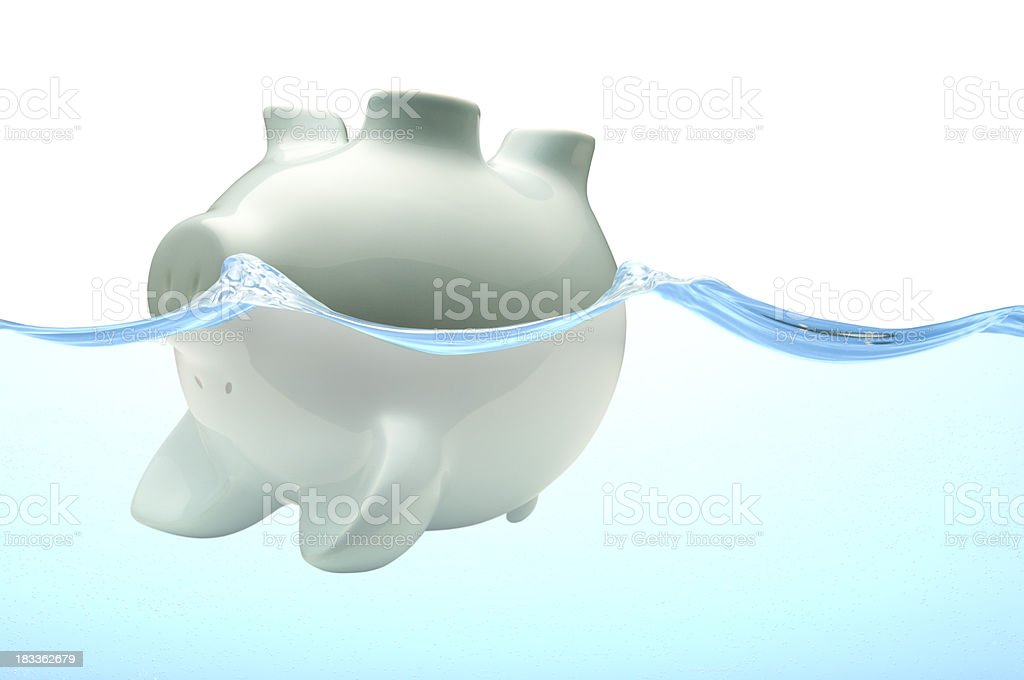 Drowning In Debt royalty-free stock photo