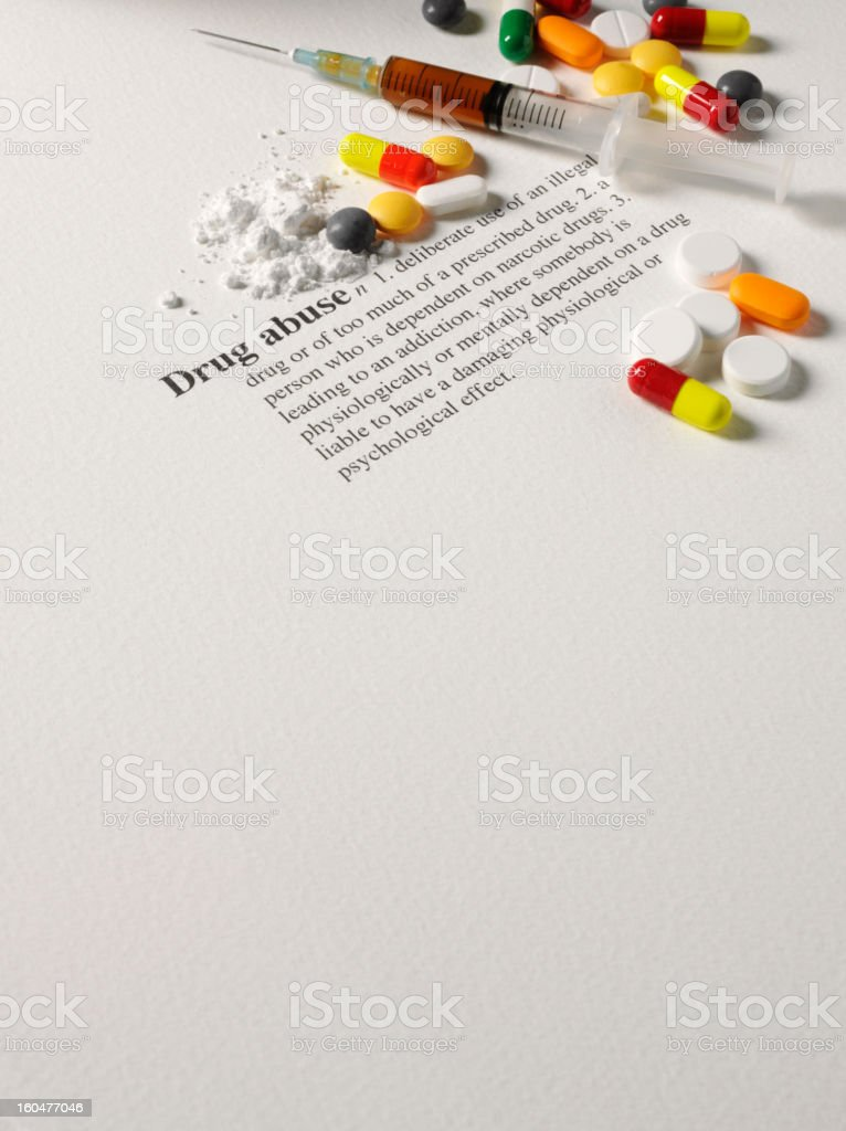 Drug Abuse Dictionary Definition stock photo