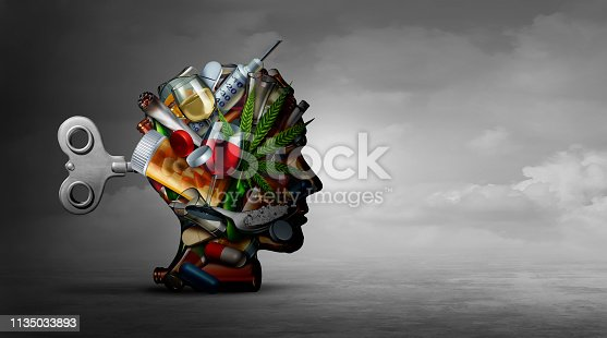istock Drug Addiction And Mental Function 1135033893
