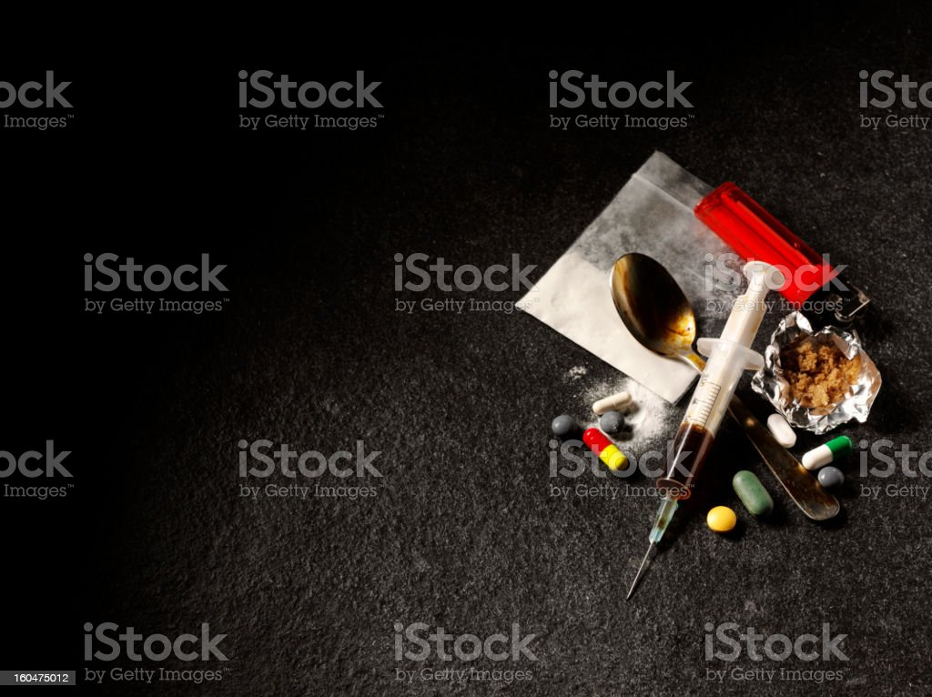 Drug Addiction and Suicide stock photo