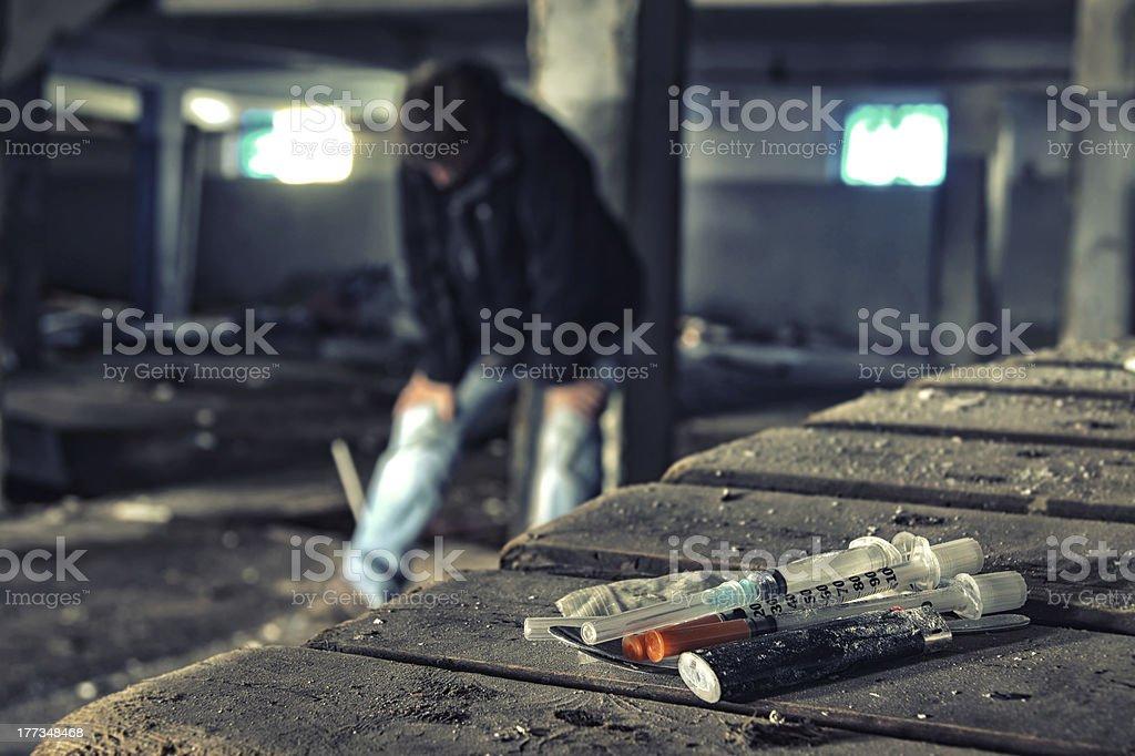 Drug addiction crisis stock photo