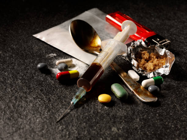 drug addiction - narcotic stock pictures, royalty-free photos & images