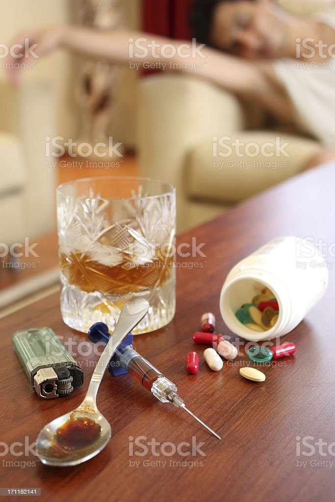 Drug addicts royalty-free stock photo