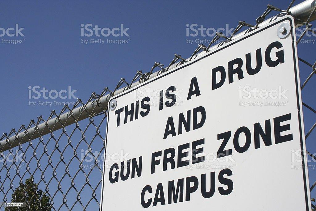 drug and gun free zone royalty-free stock photo