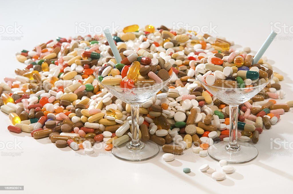 drug cocktails royalty-free stock photo