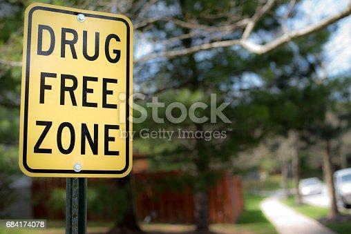 istock drug free zone sign 684174078